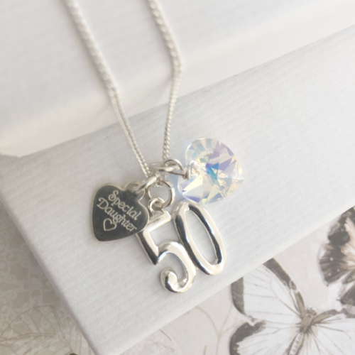 50th birthday gift necklace